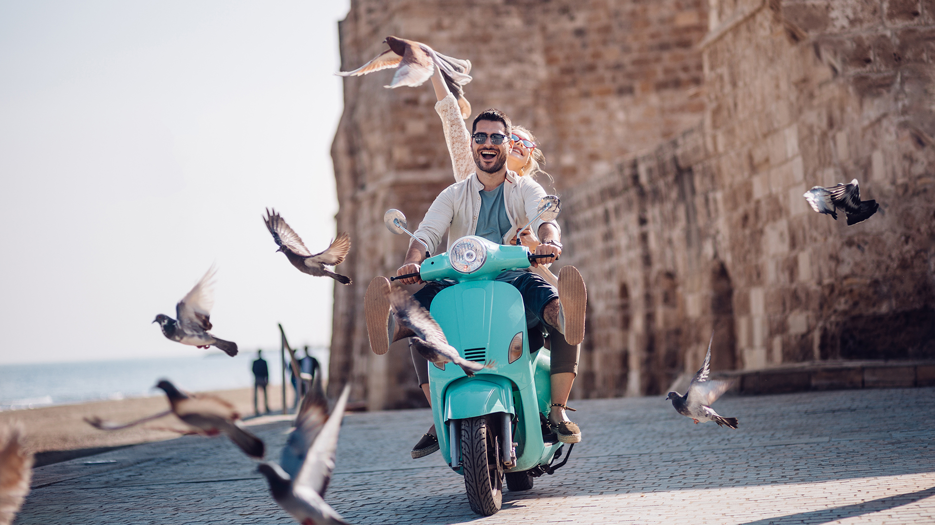 Explore Rome on your own on a Vespa
