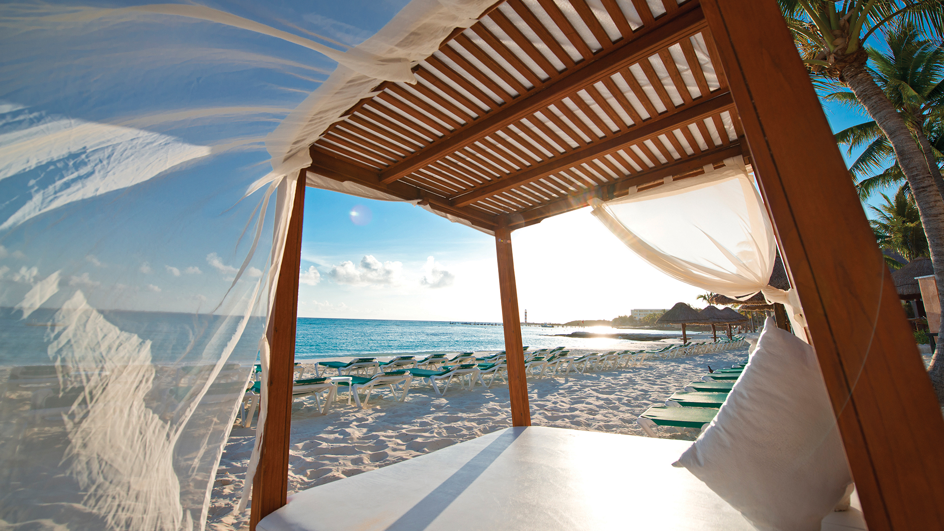 Private beach cabana in Cancun