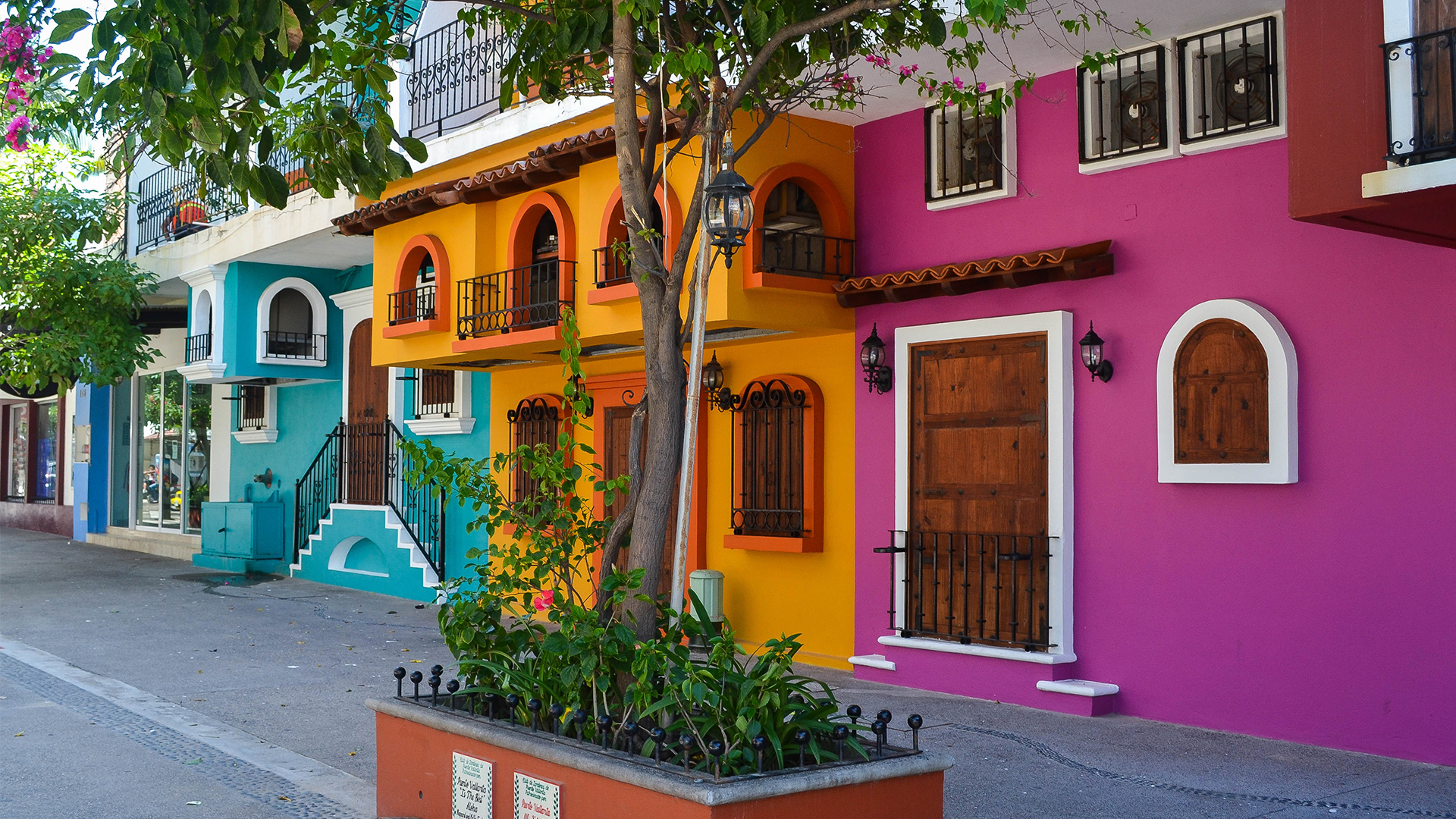 Colorful houses in Puerto Vallarta